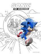 SonicMovieColoringPage