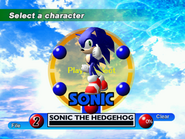Sonic Adventure Character Select DC 1