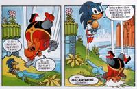Fatman makes hedgehog fly