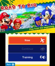 Mario Sonic Rio 3DS Menu 8