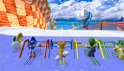 Mario Sonic Olympic Winter Games Gameplay 203