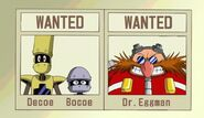 Ep45 Decoe, Bocoe, and Eggman Wanted posters