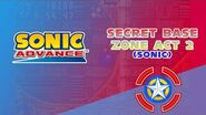 Secret Base Zone Act 2 (Sonic) - Sonic Advance