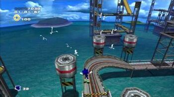 Sonic Adventure 2 (PS3) Metal Harbor Mission 1 A Rank
