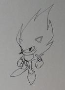 Super Sonic concept art 1