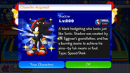 Sonic Runners Shadow unlocked