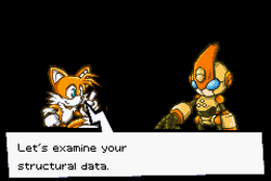 Tails reserching emerl