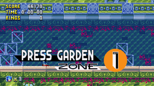 Press Garden Zone Mania Card