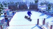 Snowboarding goes with Sonic so well