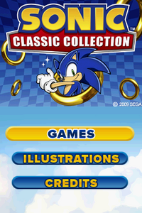 Sonic Classic Collection Title