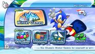 Mario Sonic Olympic Winter Games Menu 2