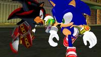 SA2 Shadow the Hedgehog and Sonic the Hedgehog 2