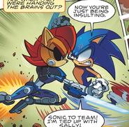 Sonic VS Mecha Sally