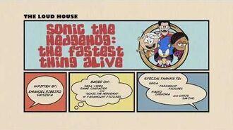 """""""Sonic the Hedgehog The Fastest Thing Alive"""" - Title Card promo"""