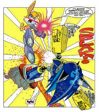 Bunnie vs Mecha Sonic