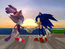 Sonic i Blaze departure