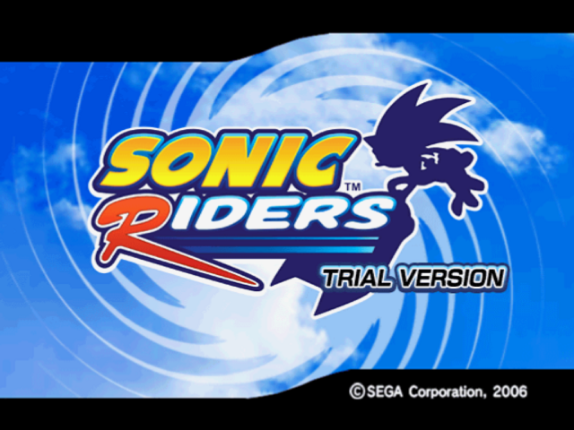 File:Sonic riders trial title screen.png