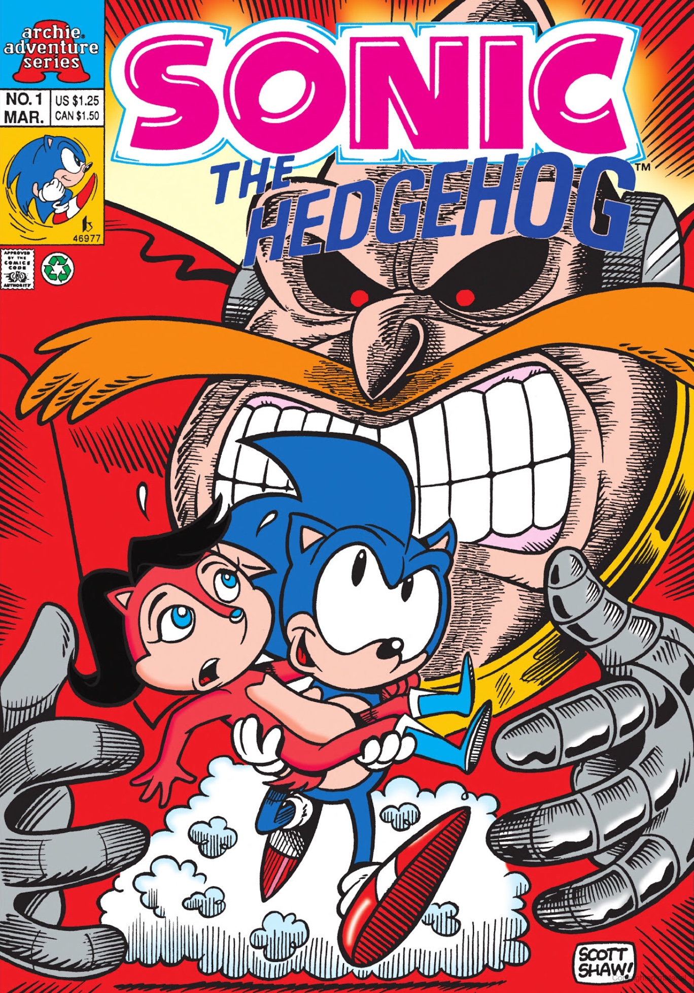 Archie Sonic The Hedgehog Issue 1 Miniseries Sonic News Network Fandom