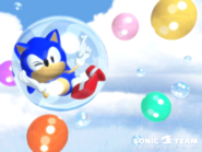 Sonic Team 3D wallpaper 1996 bubbles