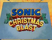 Sonic Christmas Blast title screen