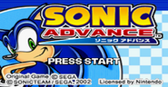 Sonic Advance title