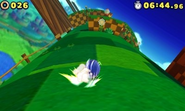Spin Dash in 3D gameplay