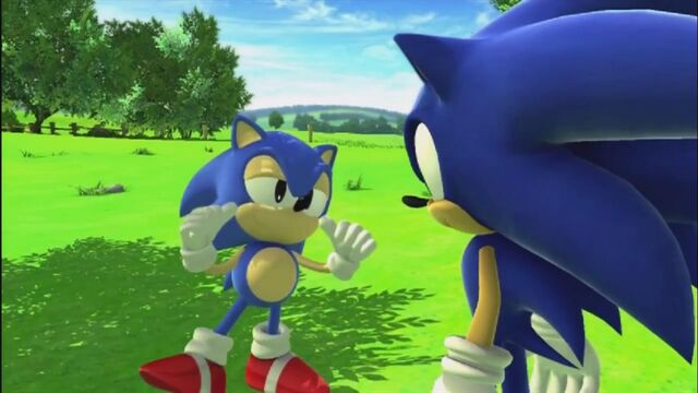 File:Modern and Classic Sonic.jpg