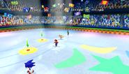 Mario Sonic Olympic Winter Games Gameplay 360