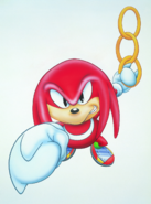 Chaotix Knuckles promotional