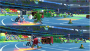 Mario & Sonic at the Rio 2016 Olympic Games - Vector VS Kunckles Javelin Throw