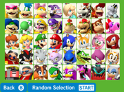 Mario Sonic Rio 3DS Character List
