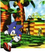 Sonic R Sonic and background