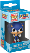 Sonic with Ring keychain Pop Games