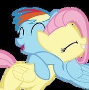 Dash hugs fluttershy
