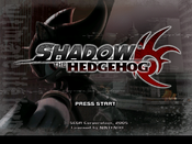 Shadow the Hedgehog Title Screen