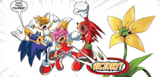 Sonic Tails Amy Knuckles IDW 8