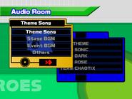 Sonic Heroes audio room
