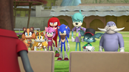Team Sonic and Lightning Bolts