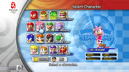 Character Select - Amy (Mario & Sonic 2008)