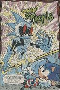 Silver sonic derrotado (archie comics)