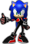 Sonicdressed as shadow