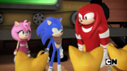 Knuckles keep an eye on them