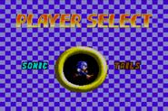 Sonic Chaos GG menu 1