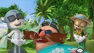 Charlie Eggman and Belinda laugh