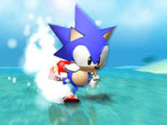 Sonic R artwork Sonic