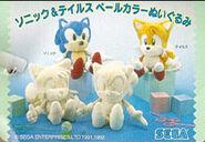 Sonic & Tails Pale Color Plush Doll