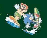 Mario & Sonic 2016 2D Mario Sonic surf