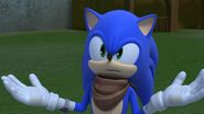 S1E17 Sonic can't cheat in a fight