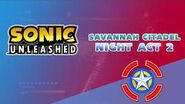 Savannah Citadel Night Act 2 - Sonic Unleashed