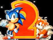 Sonic i Tails Sonic 2 Artwork